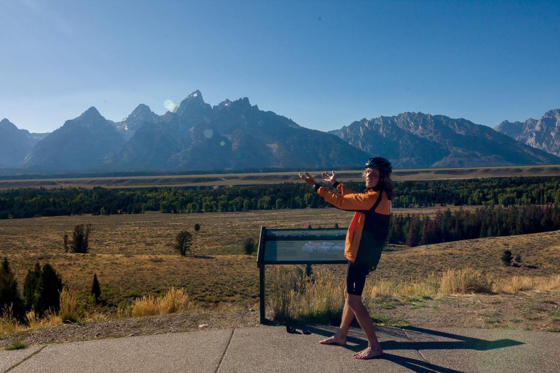 Национальный парк Гранд Тетон. Одиночный велопоход по США. Grand Teton National Park Solo cycling tour in USA