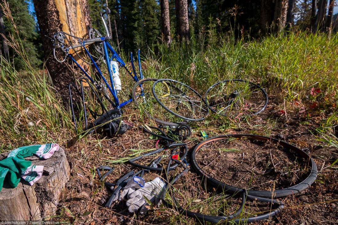 Ремонт велосипеда. Одиночный поход на велосипеде по США. Cycle repair. Solo cycling tour in USA