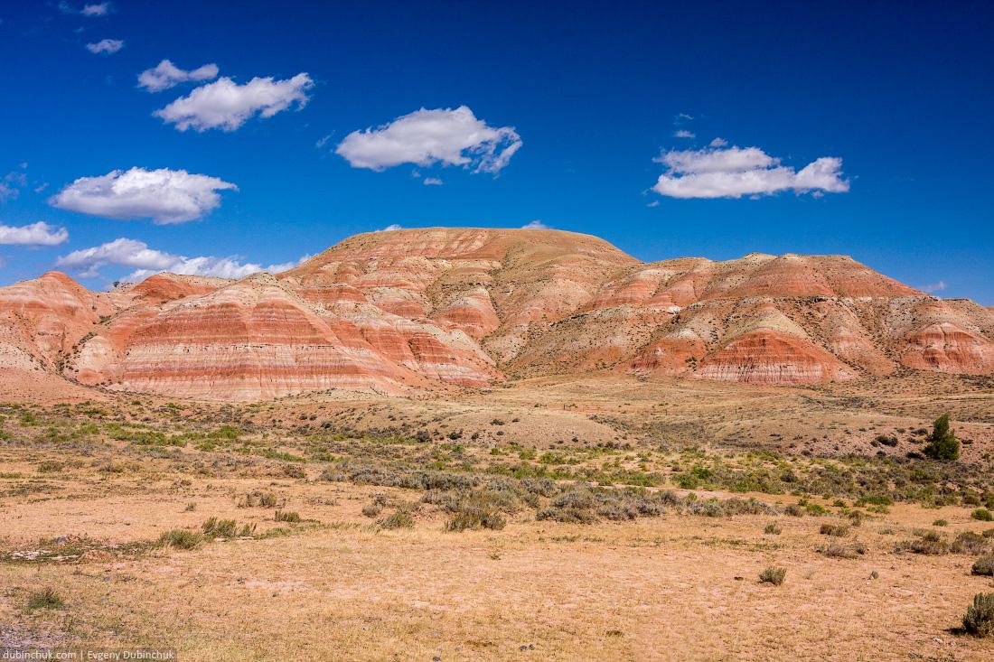 Semi-desert in Wyoming. Вайоминг. Путешествие на велосипеде в одиночку по США