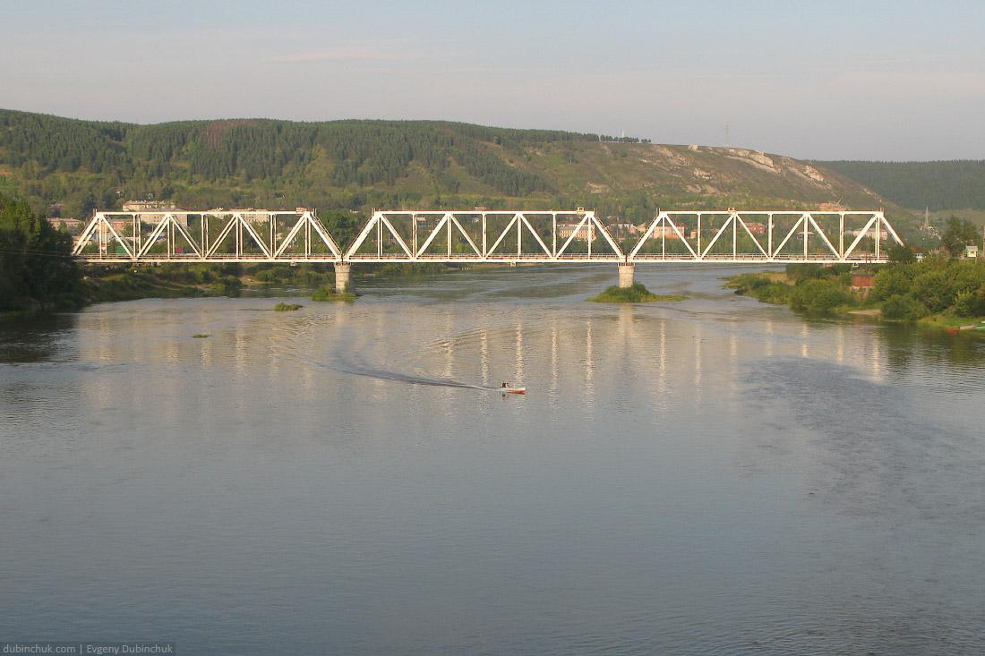 Железнодорожный мост в Чусовом. Одиночный велопоход по Уралу. Railway bridge across Chusovaya river, Russia