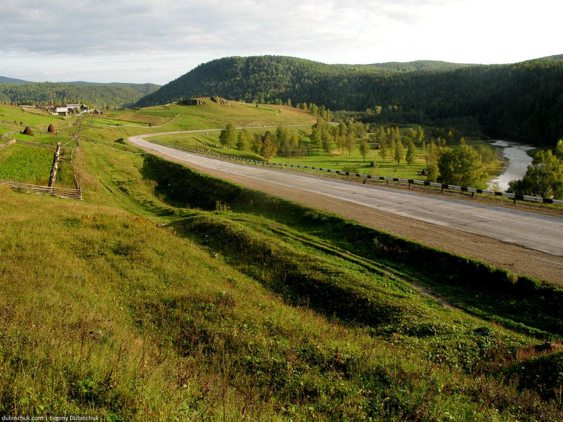 Уральские пейзажи. Одиночный велопоход по Уралу. Village in Ural mountains. Rural landscape