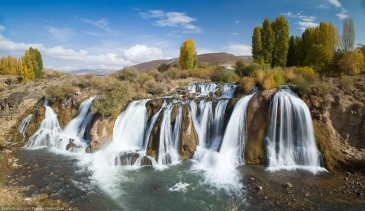 Turkish landscape - Muradiye waterfalls, Van province