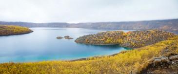 Lake Nemrut (Nemrut Gölü, Nemrut Dağı) in caldera Volcano Nemrut, Turkey