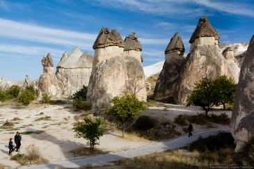 "Group of fairy chimneys ""Pasabagi"" - typical rock formation in Goreme, Cappadocia, Turkey"