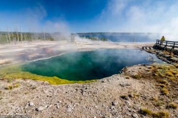 Hot pool in Yellowstone National Park. USA