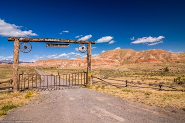 Entrance to ranch in Wyoming