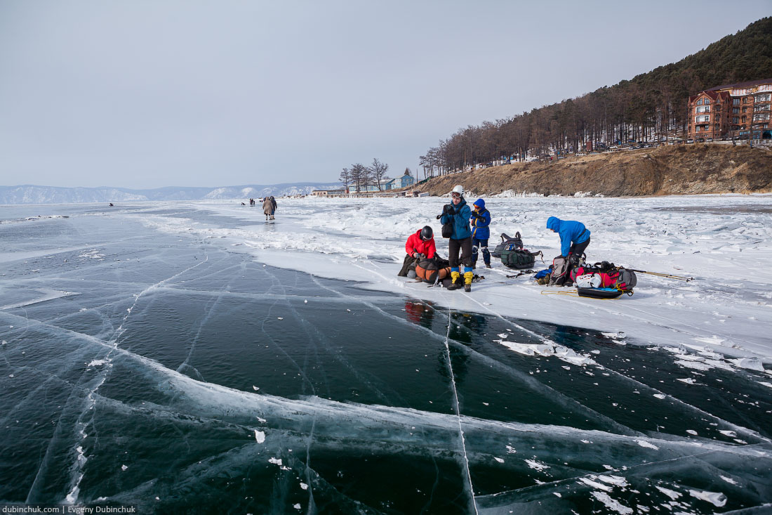 Поход по Байкалу на коньках. Сборы. Ice skating trip on Baikal lake