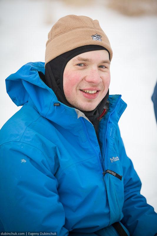 Костя. Поход по Байкалу на коньках