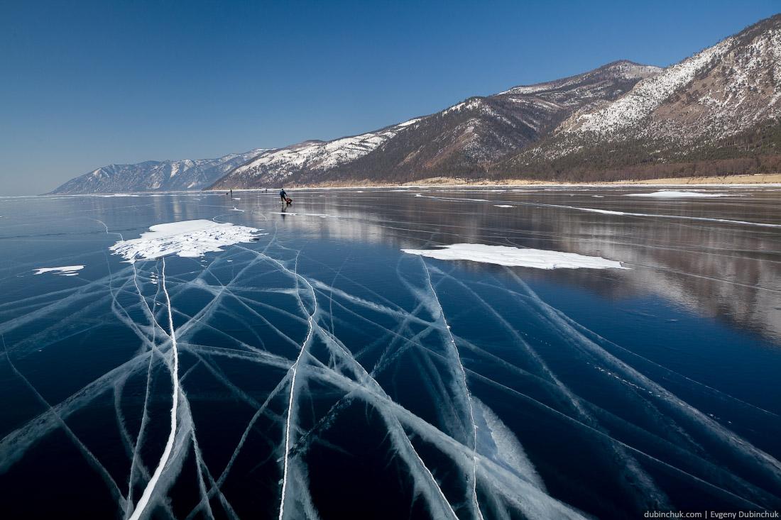 Чистый лед Байкала. Поход по Байкалу на коньках. Pure Baikal ice. Skating tour on Baikal lake.