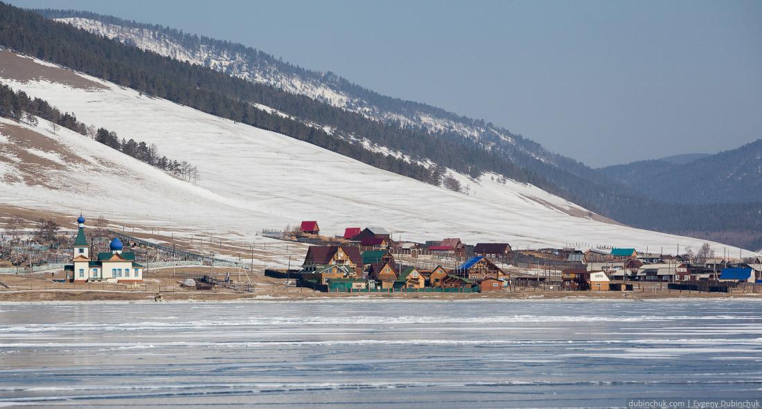 Большое Голоустное. Фото из путешествия на Байкал на коньках.