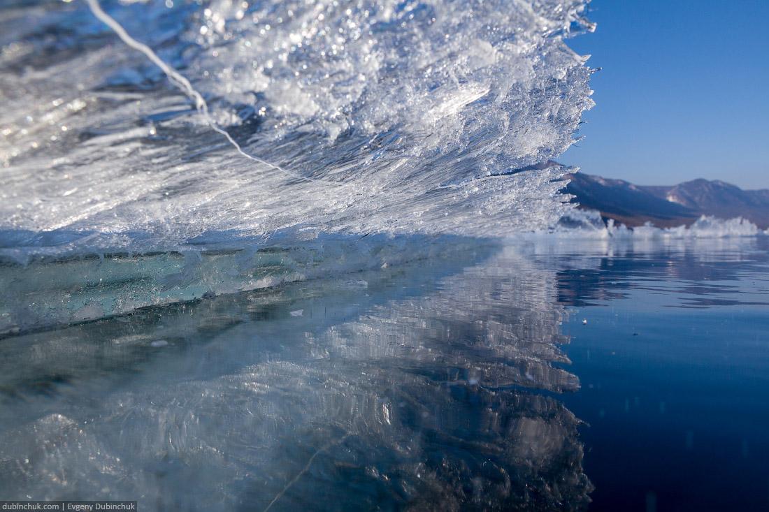 Разнообразные формы льда на Байкале. Путешествие на Байкал на коньках. Pure Baikal ice