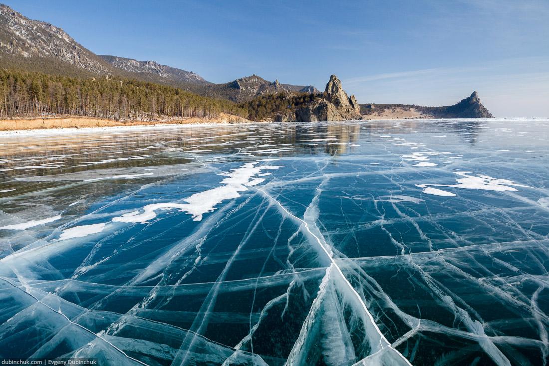 Озеро Байкал, бухта Песчаная зимой. Мысы Большой и Малый Колокольный. Путешествие по Байкалу на коньках. Transparent ice of Baikal lake