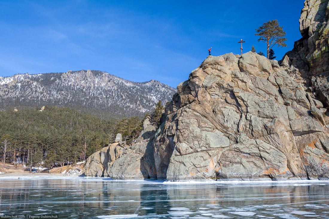 Мыс Малый Колокольный. Путешествие по Байкалу на коньках. Lake Baikal in winter