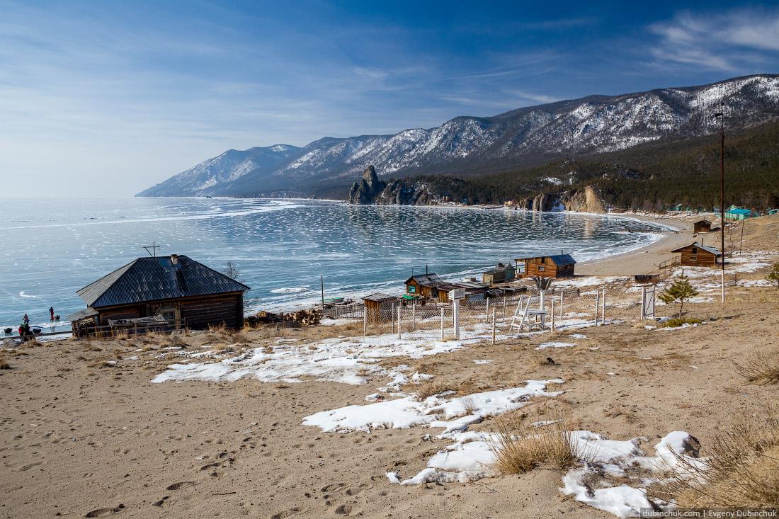Байкал, бухта Песчаная зимой. Путешествие по Байкалу на коньках. Baikal in winter. Pure ice.