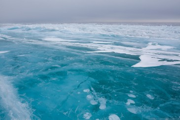 Blue ice of Baikal lake