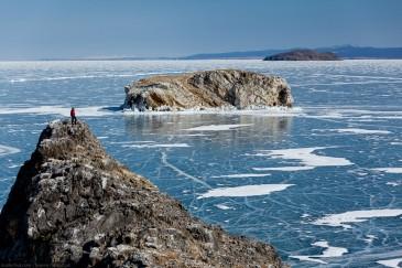 Острова на Байкале зимой: Ольтрек, Замогой, Борга-Даган, Ольхон