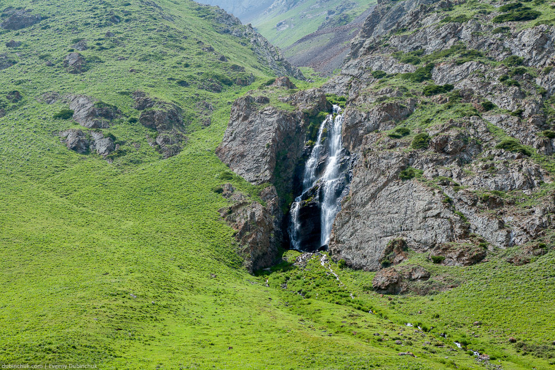 Waterfall in Kegety ravine, Kyrgyzstan