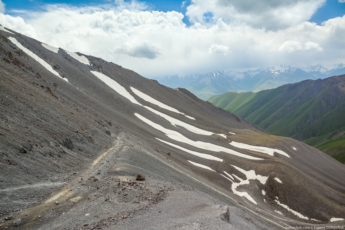 View from Kegety pass in Tien Shan mountains