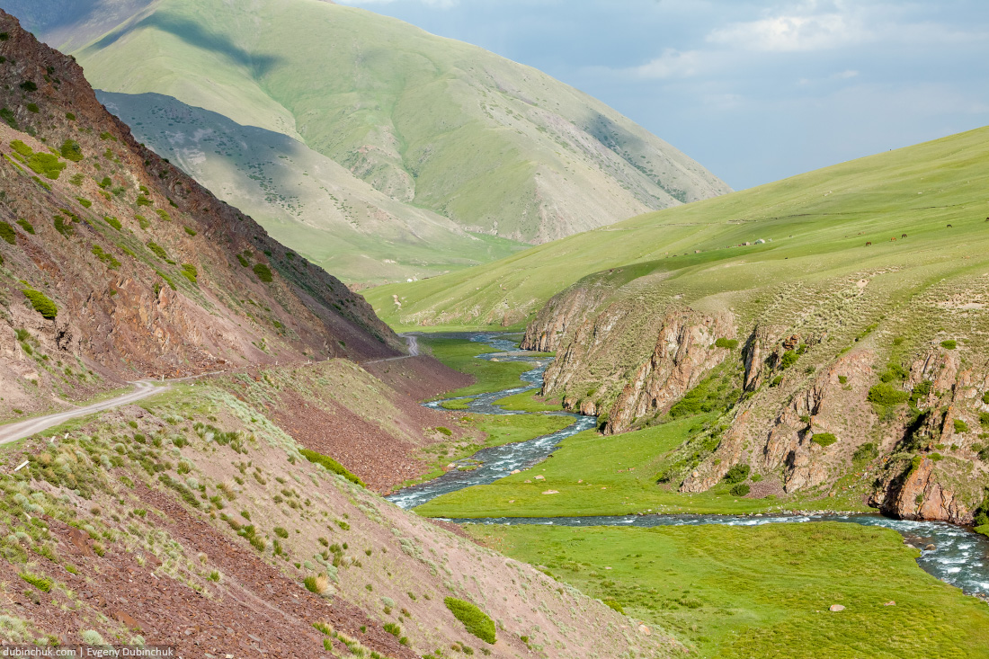 Valley of East Karakol river, Tien Shan mountains