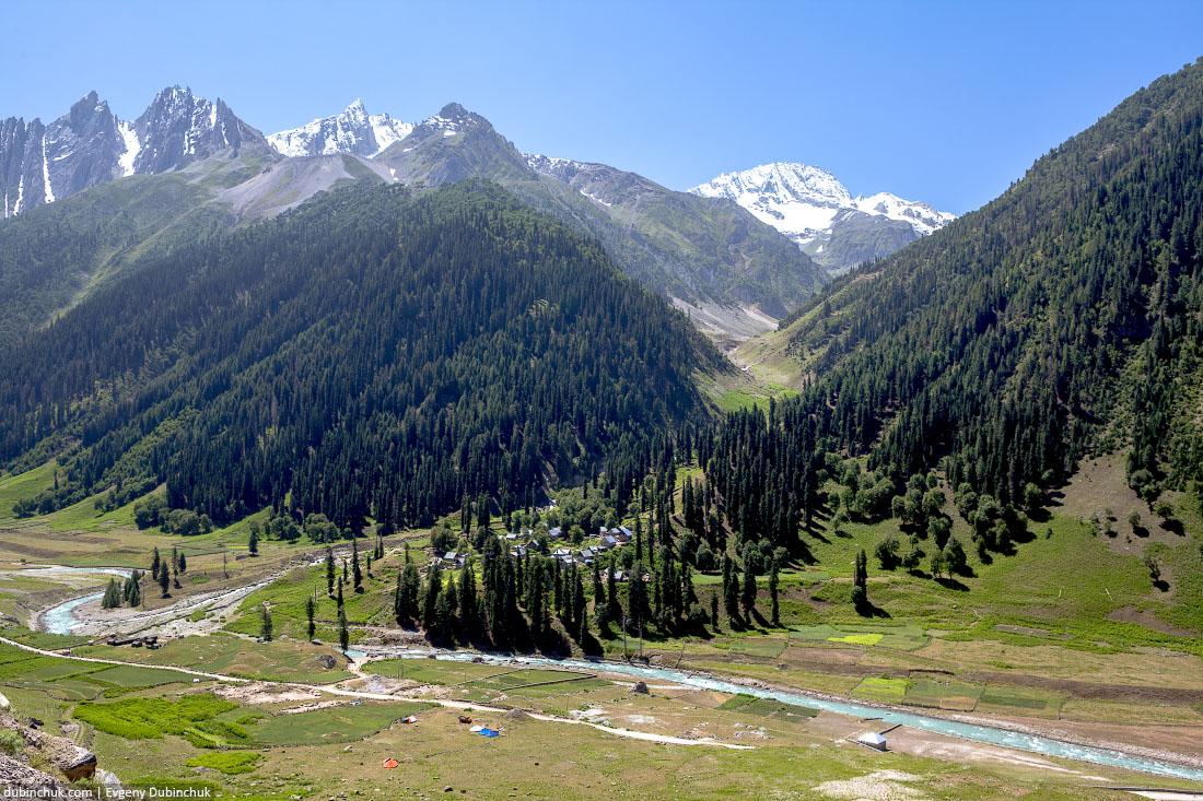 Горные пейзажи в Кашмире