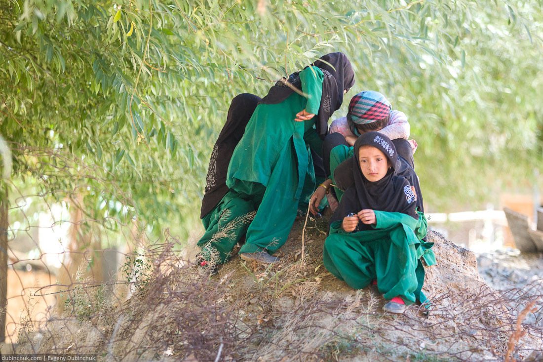 Школьники в Кашмире.
