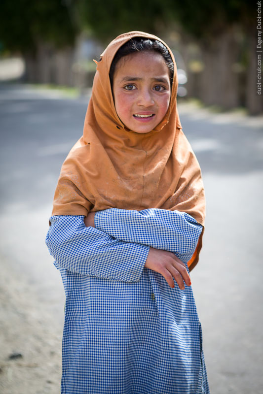 Девочка мусульманка из Кашмира