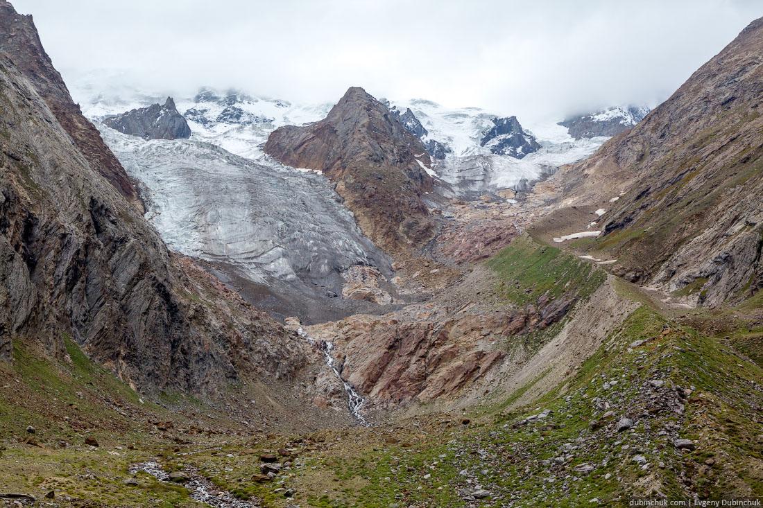 Ледники, стекающие с массива Нун-Кун