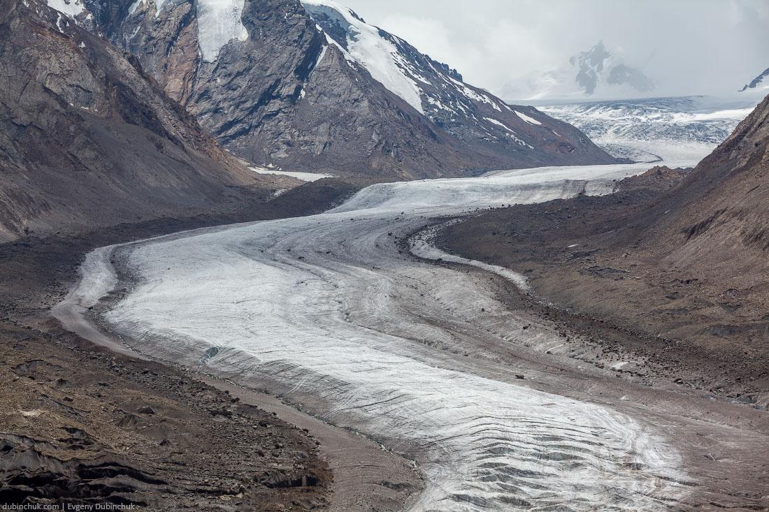 Трещины в леднике Дранг Друнг. Долина Занскар, Гималаи, Индия