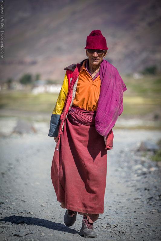 Житель Занскара, Индия