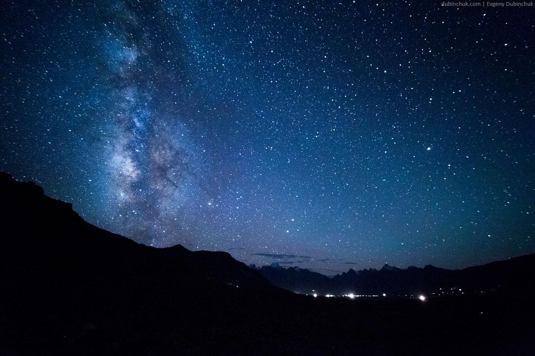 Ночное небо в Занскаре. Окрестности Падума