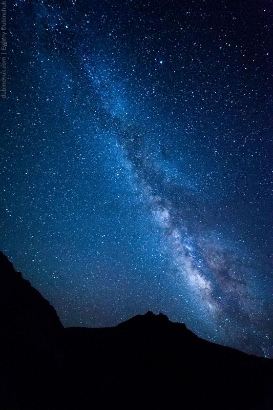 Звездное небо Занскара рядом с Падумом