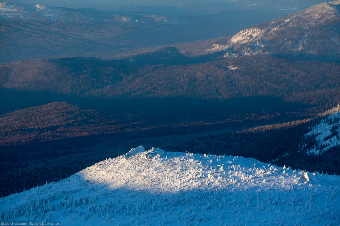 Южный Урал зимой на закате