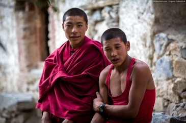 Buddhist monks in Zanskar. Indian Himalayas