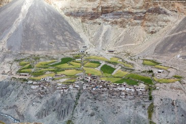Photoksar village in Zanskar. Himalaya mountains