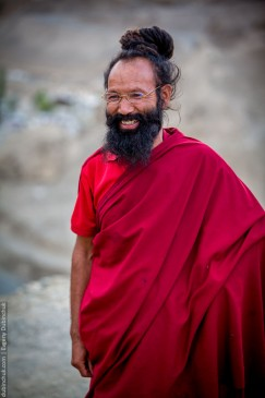 Buddhist monk of Lamayuru gompa monastery. Ladakh, North India
