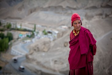 Buddhist monk in Ladakh, Indian Himalayas