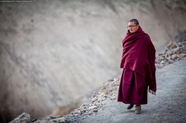 Tibetian monk at Lamayuru monastery
