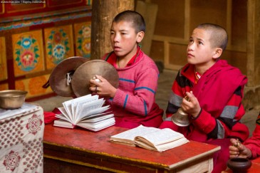 Young monks at Lamayuru Gompa monastery. Ladakh, India