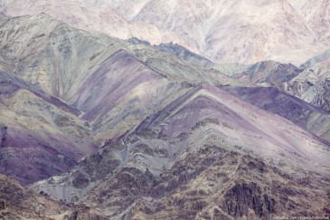 Purple mountains in Himalayas. Ladakh, India