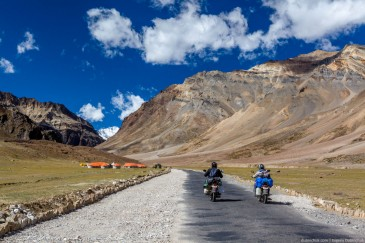 Motorcyclists in Ladakh. India