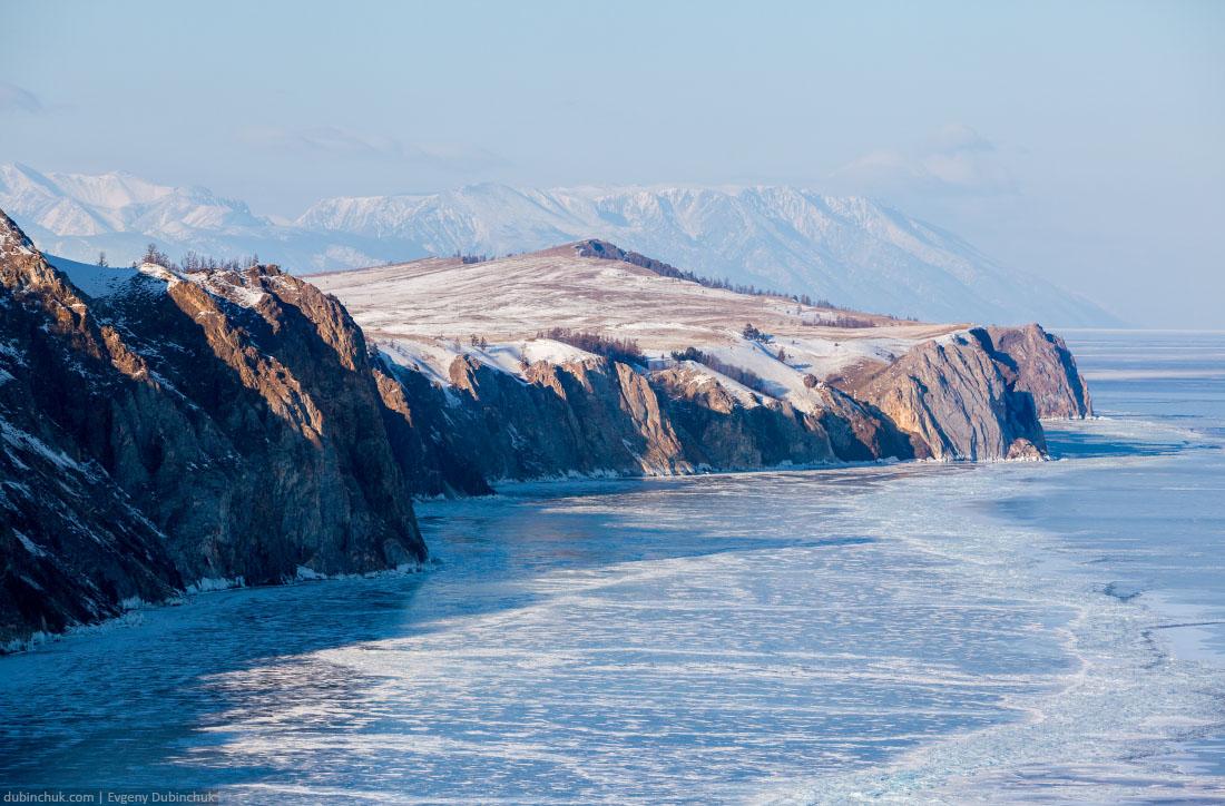 Вид в сторону Хобоя. Байкал зимой