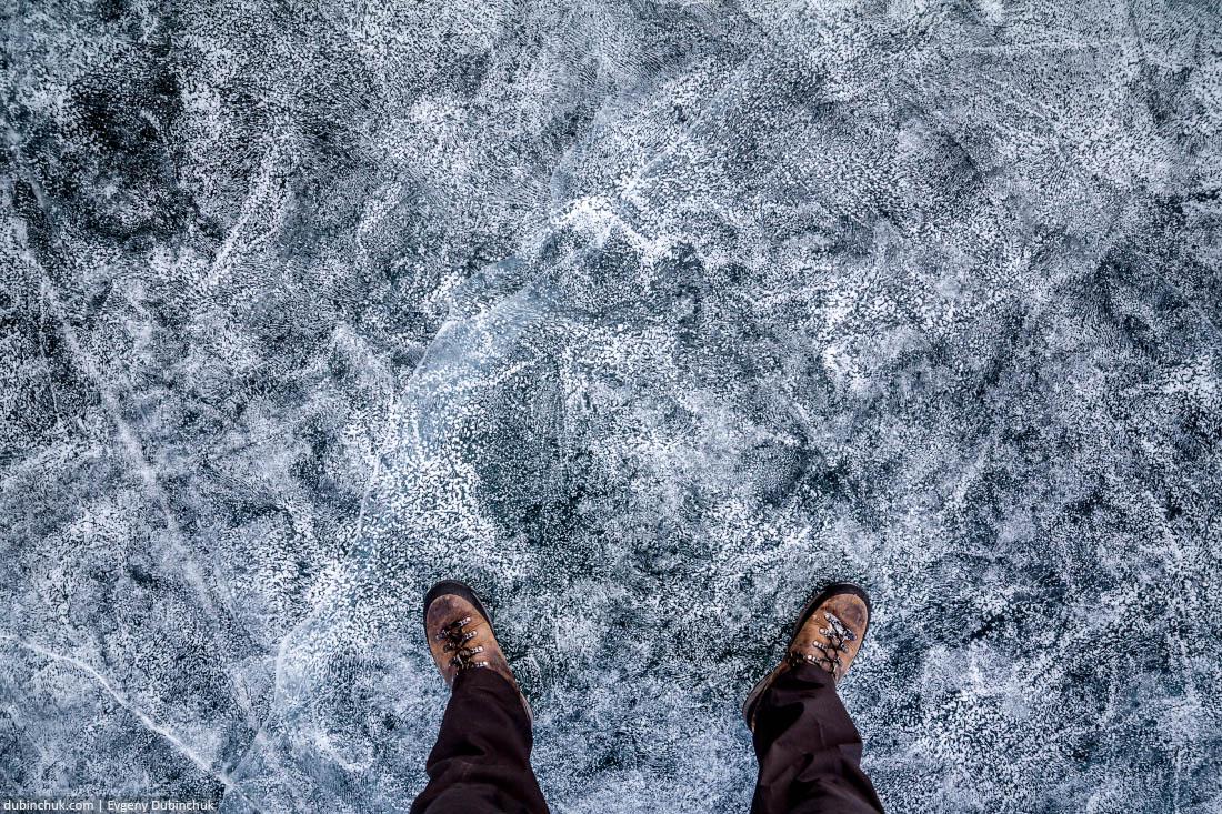 Удивительный лед озера Байкал. Baikal ice in winter