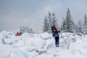 Ski touring in Ural Mountains