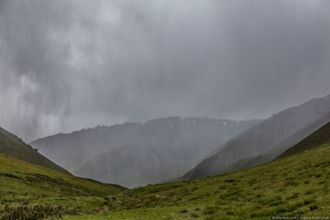 Bad weather in Tien Shan Mountains