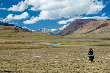 Offroad cycling touring in Tien Shan Mountains