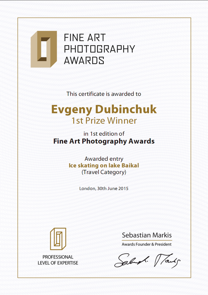 Evgeny Dubinchuk 1st prize winner Fine Art Photography Awards 2015