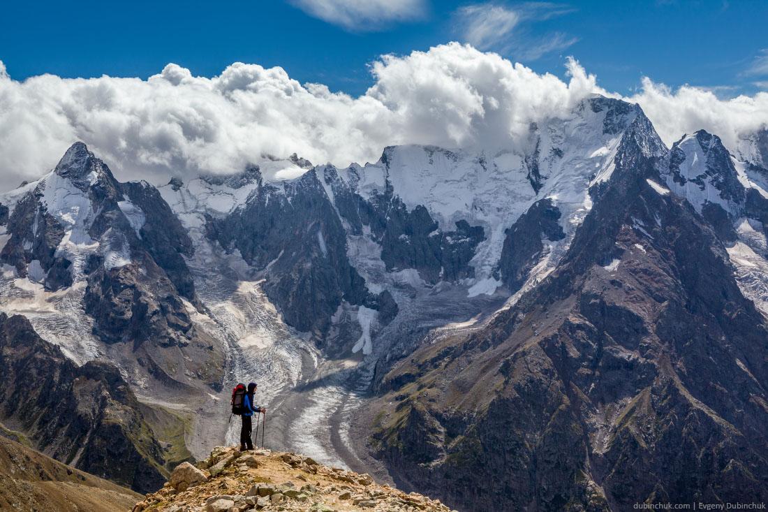 Пеший поход по Кавказу. Перевал ВЦСПС. Caucasus hiking