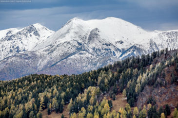 Slopes of Altai mountains in late autumn